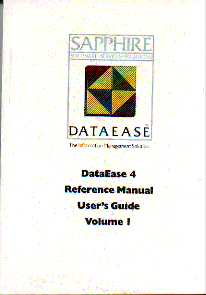 sapphire dataeaseinstruction book cover    user manual
