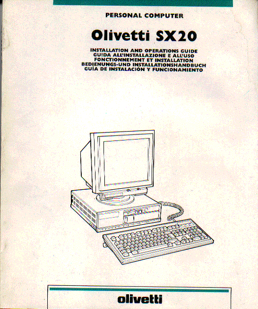 olivetti sx20 computer instruction manual users guide