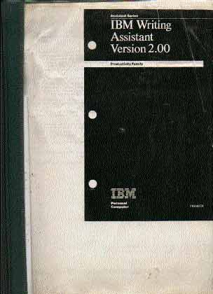 IBM writing assistant version 2.0 instruction manual