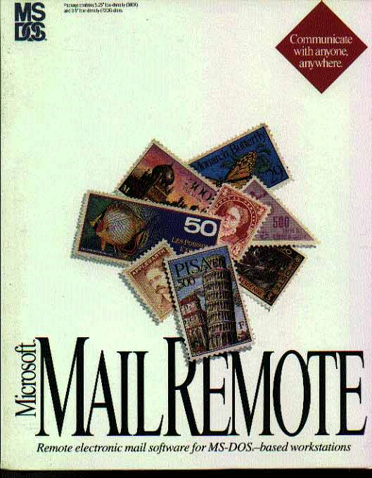 microsoft mail remote for MS DOS based workstations version 3.0 - the full program