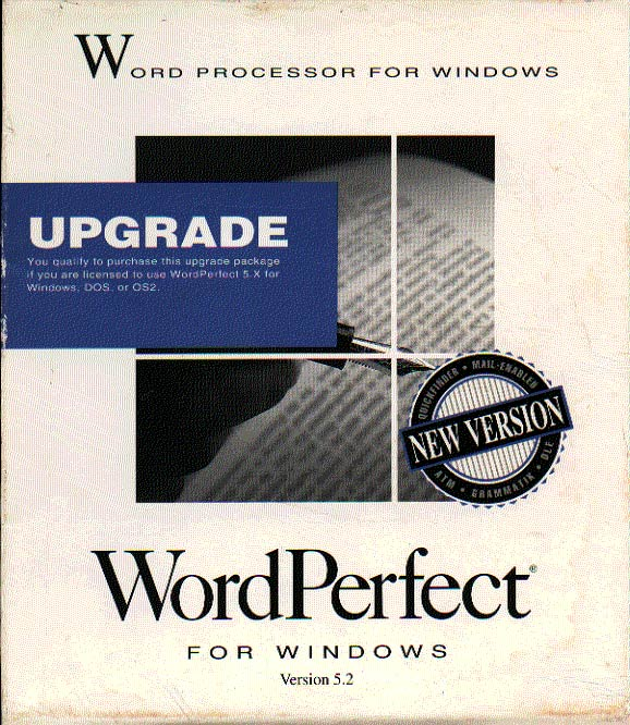 wordperfect 5.2 for windows upgrade